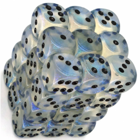 Aquerple & Black Borealis 12mm D6 Dice Block